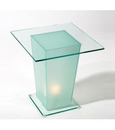Square glass table with light Ref. 59162
