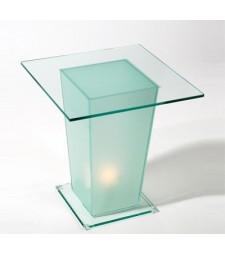 Mesita Cristal Cuadrada con Luz Ref. 59162