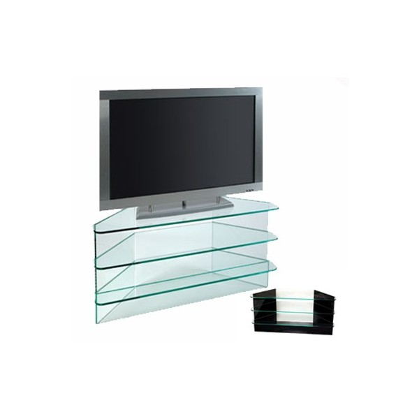 Mesa cristal tv dvd canal plus - Mesas tv diseno ...