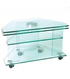 Glass TV+DVD  table with swivel base Ref. 59663