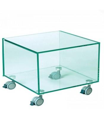 Cubo Carrito en Cristal 55x55x40 Ref. 59666