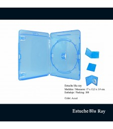 Estuche Blu Ray  Azul 14 mm
