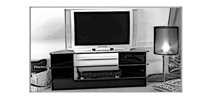 Tempered glass table and desk TV-DVD