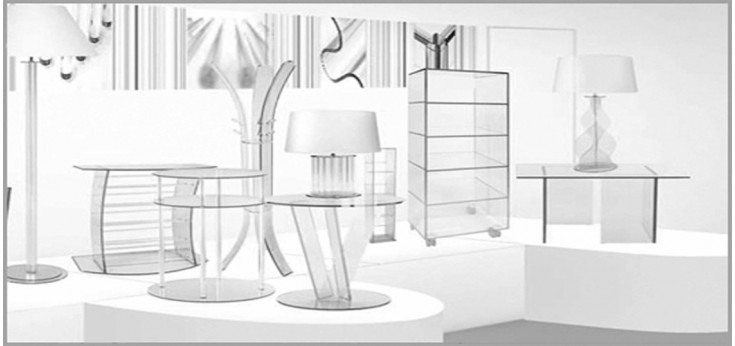 Mobiliario en Diseño en Cristal. Mesa Cristal, Torres CD-DVD Cristal, Escritorios, Mesa TV, Complementos para el hogar.